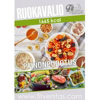 Ruokavalio 1665 kcal