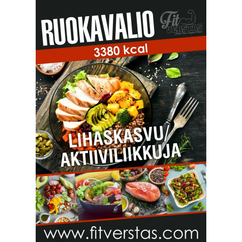 Ruokavalio 3380 kcal