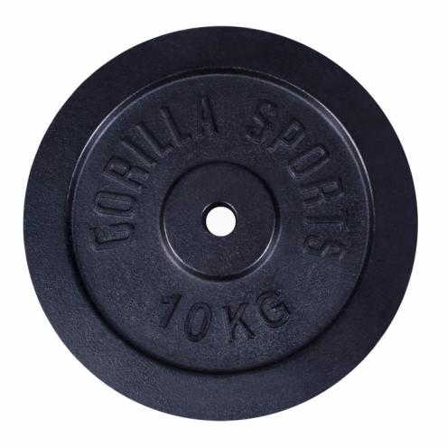 Valurautainen Levypaino 10kg Musta