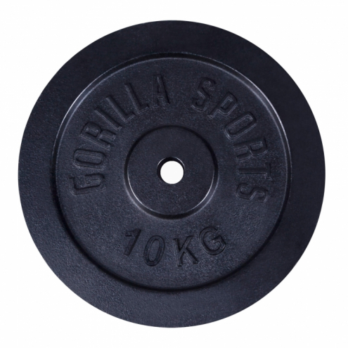 Valurautainen Levypaino 2x10kg 2x5kg Musta
