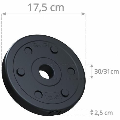 30mm Vinyylilevypainot 2x1,25kg ScSPORTS