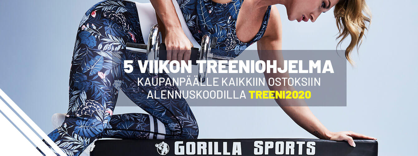 Gorilla Sportsin kotitreeni kaupanpäällle kaikkiin ostoksiin!